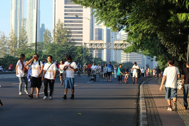 People on the streets of Jakarta